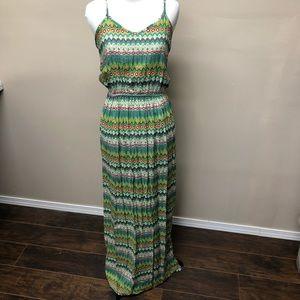 Aina Be Green Boho Maxi Dress Size Large